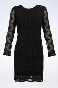 Μαύρο Δαντελωτό Φόρεμα / Μέγεθος: