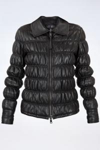 Μαύρο Δερμάτινο Καπιτονέ Jacket