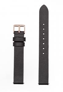 Μαύρο Δερμάτινο Λουράκι 14mm με Αγκράφα