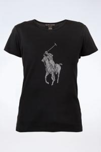 Μαύρο Ελαστικό Βαμβακερό T-Shirt