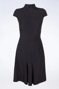 Μαύρο Φόρεμα με Άνοιγμα στην