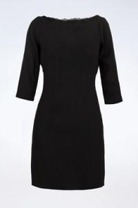 Μαύρο Φόρεμα με Δαντέλα και