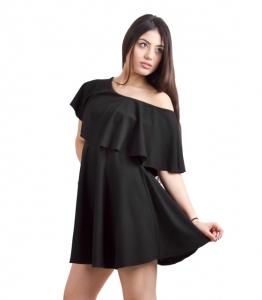 Μαύρο φόρεμα βολάν και κλος φούστα