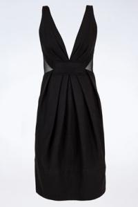 Μαύρο Μάλλινο Φόρεμα με Διαφάνειες
