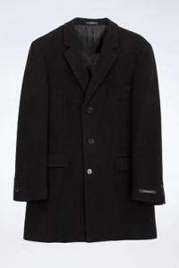Μαύρο Μάλλινο Παλτό σε Ίσια