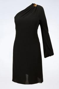 Μαύρο Μεταξωτό Φόρεμα με Ένα