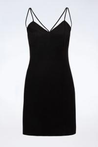 Μαύρο Mini Φόρεμα με Τιράντες / Μέγεθος: 42 - Εφαρμογή: S