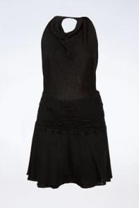 Μαύρο Πλεκτό Halterneck Mini