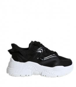 Μαύρο sneakers με λευκό πάτο