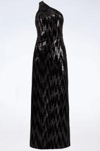 Μαύρο Βελούδινο Maxi Φόρεμα