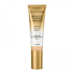 MAX FACTOR MIRACLE SECOND SKIN HYBRID FOUNDATION 03 Light 30ml