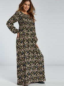 Maxi φόρεμα με λουλούδια SH1770.8001+2
