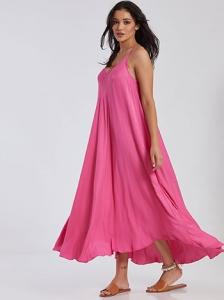 Maxi φόρεμα με V λαιμόκοψη SG7885.8982+8