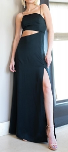 Μάξι φόρεμα σατέν ONLINE -