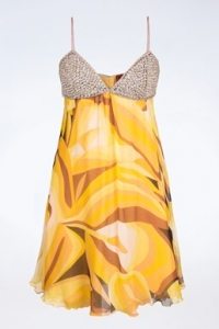 Μεταξωτό Σιφόν Φόρεμα με Διακόσμηση