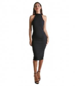 Midi αμάνικο εφαρμοστό φόρεμα