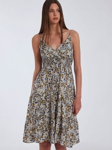 Midi φόρεμα με βαμβάκι SH9844.8339+4