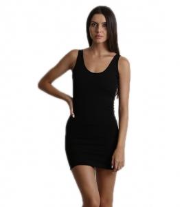 Mini Εφαρμοστό Φόρεμα τιράντα με ανοιχτή πλάτη (Μαύρο)