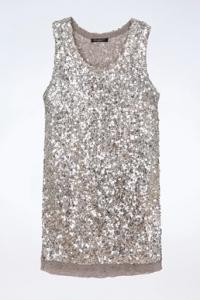 Mini Φόρεμα με Ασημένιες Παγιέτες