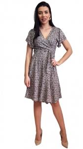 Mini φόρεμα με λαχούρια NAIBA