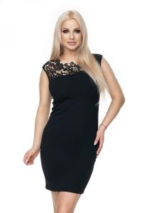 Μίνι φόρεμα με μαύρη δαντέλα