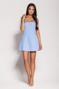 Μίνι φόρεμα στράπλες - Γαλάζιο
