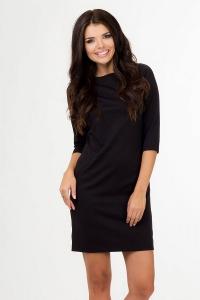 Μονόχρωμο μίνι φόρεμα - Μαύρο