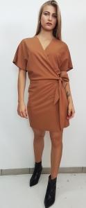 Μονόχρωμο mini φόρεμα Vagia