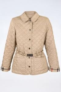 Μπεζ Καπιτονέ Λεπτό Jacket / Μέγεθος: S - Εφαρμογή: Κανονική