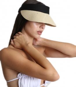 Μπεζ ψάθινο καπέλο
