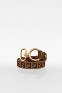 Μπεζ Ζώνη από Καμβά με Λογότυπο