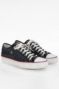 Μπλε Δερμάτινα Ανδρικά Sneakers