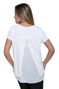 Μπλούζα Κοντομάνικη Σε Λευκό