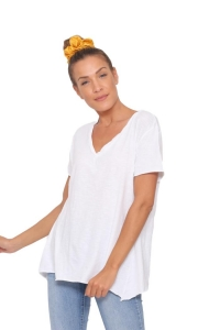 Μπλούζα Μακό Σε Άσπρο