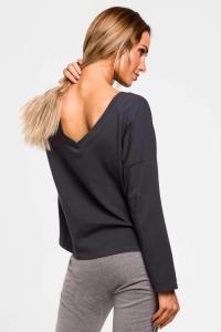 Μπλούζα μακρυμάνικη με λαιμόκοψη