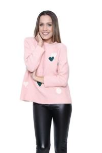 Μπλούζα Με Καρδιές Σε Ροζ