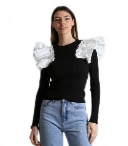 Μπλούζα ριπ με κεντητό σχέδιο