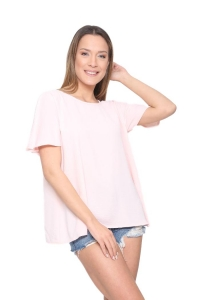 Μπλούζα Υφασμάτινη Σε Ροζ