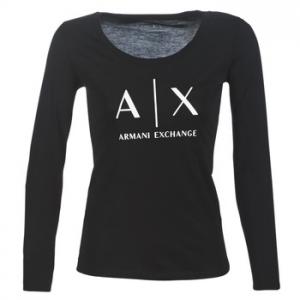 Μπλουζάκια με μακριά μανίκια Armani Exchange 8NYTDG-YJ16Z-1200 Σύνθεση: Βαμβάκι