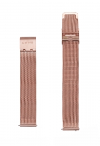Μπρασελέ Ρολογιού σε Ροζ Χρυσό - Mesh 16mm