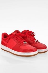 Nike Air Force 1 Κόκκινα Δερμάτινα Sneakers / Μέγεθος: 38.5 - Εφαρμογή: 38