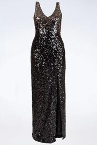 Ντεγκραντέ Maxi Φόρεμα με Παγιέτες / Μέγεθος: 36 FR - Εφαρμογή: XS / S