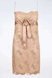 Nude Δαντελένιο Φόρεμα με Παγιέτες και Χάντρες / Μέγεθος: ? - Εφαρμογή: XS / S