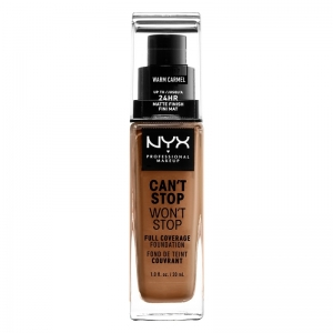 NYX PROFESSIONAL MAKEUP CANT STOP WONT STOP FULL COVERAGE FOUNDATION Warm Caramel 30ml