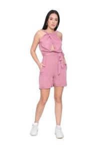 Ολόσωμη Φόρμα Σορτς Σε Dusting Pink