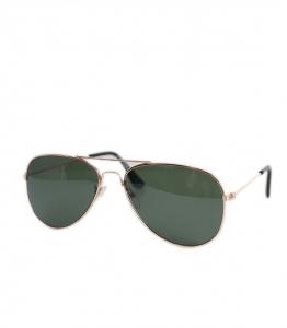 Παιδικά γυαλιά ηλίου με χρυσό σκελετό και πράσινο φακό