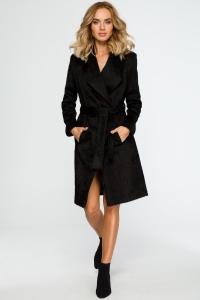 Παλτό με γιακά και ζώνη στη