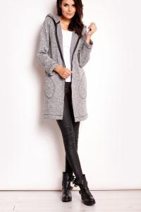 Παλτό με κουκούλα και φερμουάρ