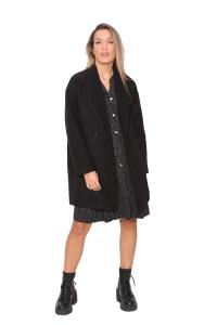 Παλτό Oversize Σε Μαύρο