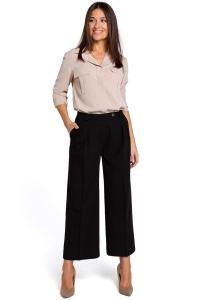 Παντελόνα ζιπ κιλότ - Μαύρο